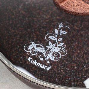 Сковорода Granit ultra red, d=24 см, с ручкой, стеклянная крышка, антипригарное покрытие