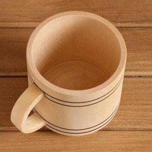 Кружка пивная сувенирная точеная 0,5 л С РУЧКОЙ