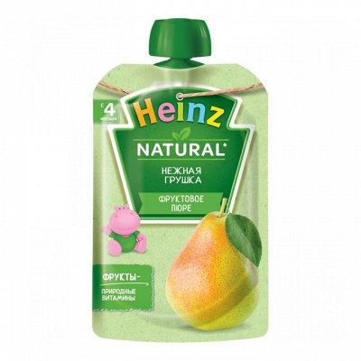 Скидки до 80%. Мамы выбирают Хайнц и Фруттис  — Фруктовые пюре в мягкой упаковке — Пюре