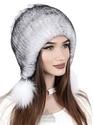Нашивная шапка с помпонамиАиша