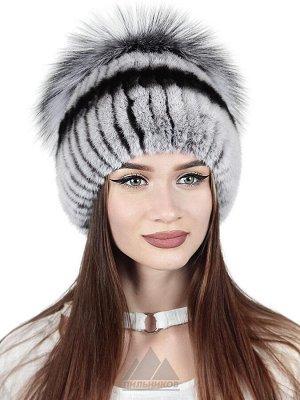 Женская шапка из нашивного кроликаДолорес