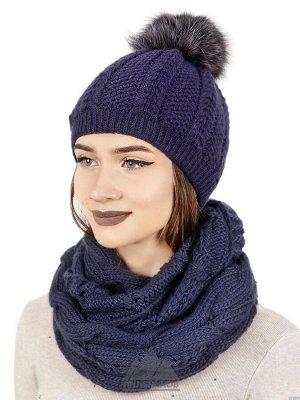 Вязаный комплект шапка и снудДороти