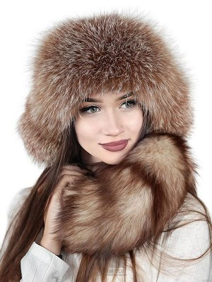 Зимний женский малахай из лисыДжена