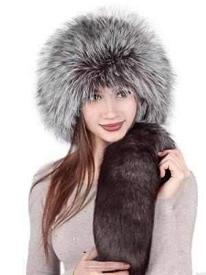 Ушанка шапка-малахай из чернобуркиСаянна