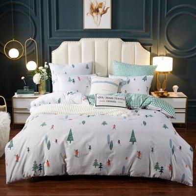 Роскошная постель - залог успешного дня. Новинки! — Люкс Сатин 100% хлопок (на резинке) — Спальня и гостиная