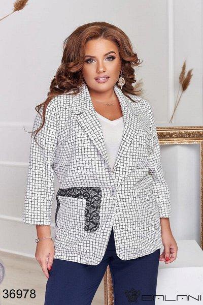 BALANI 💜Женская одежда. ЗИМА 2020-21 — Размер XL+. Пиджаки Кардиганы XL+ — Пиджаки и жакеты