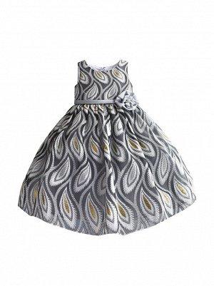 Платье Zoe Flower ZF209 grey