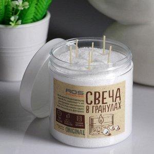 Свеча насыпная, в гранулах, в банке с 12 фитилями, белая, 8,5?10,5 см