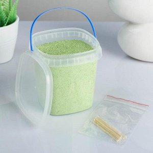 Свеча насыпная, в гранулах, в банке с 12 фитилями, салатовая, 9,5?9,5?10 см, 360 г