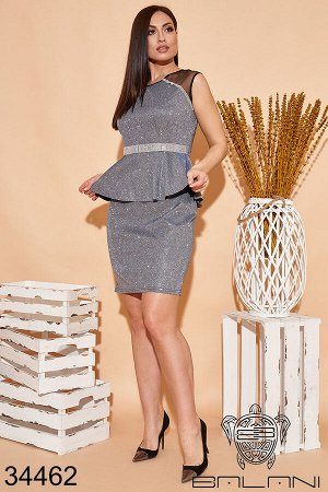 Платье с баской-34462
