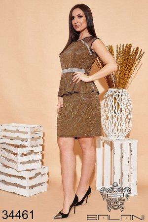 Платье с баской-34461