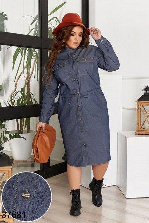 Джинсовое платье-37681