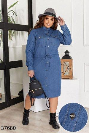 Джинсовое платье-37680