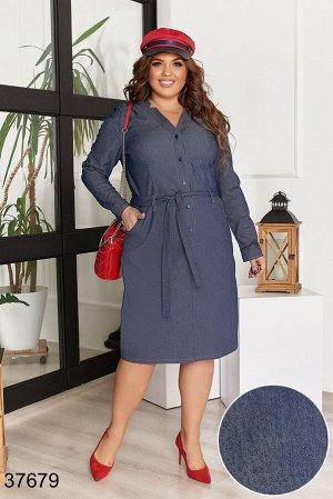 Джинсовое платье-37679