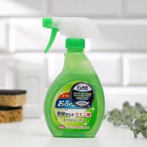 Спрей чистящий для ванной комнаты FUNS с ароматом свежей зелени, 380 мл