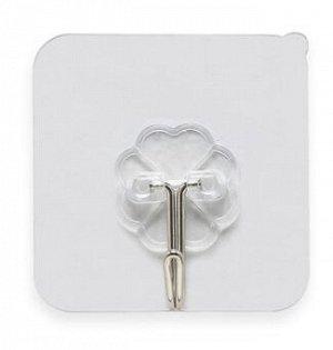 Крючок-наклейка, 6×6,5×2 см, цвет прозрачный, 1шт