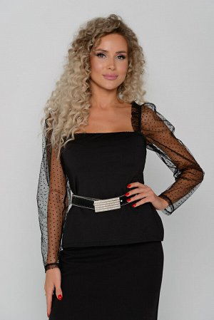 Блуза Длина блузы измеряется по спинке от точки втачивания бретели до низа изделия.   Для размера 42 длина блузы составляет 38 см; для размера 44 - 39 см; для размера 46 - 40 см; для размера 48 - 41 с