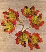 Листья клена двойные набор 3шт