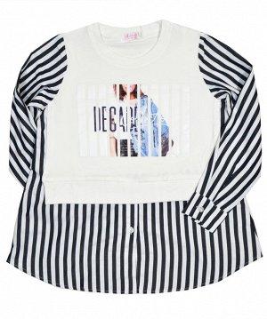 Джемпер-рубашка Colabear 684707 Белый/Синий *