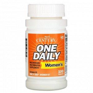 21st Century, One Daily, для женщин, 100 таблеток