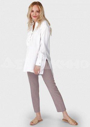"""Летняя длинная блузка (туника) для беременных и кормления """"Зара""""; белый"""