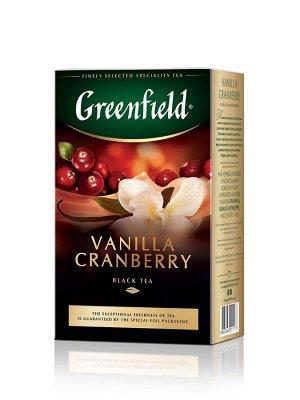 Чай Гринфилд Vanilla cranberry, 100г