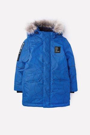 Куртка(Осень-Зима)+boys (синий, геометрия)