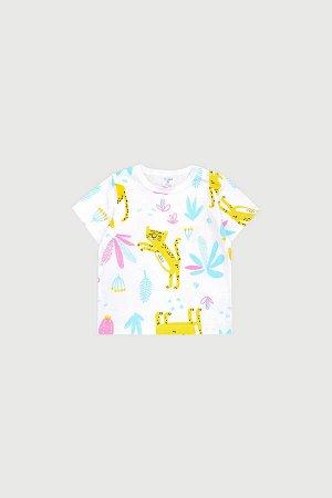 Фуфайка(Весна-Лето)+baby (маленькие леопарды на сахаре)