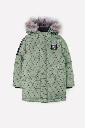 Куртка(Осень-Зима)+boys (хаки, геометрия)