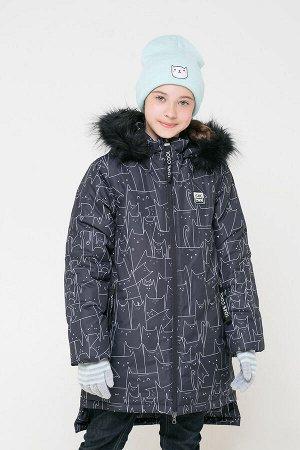 Пальто(Осень-Зима)+girls (графит, котики)