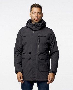 . Черный; Темно-синий; Темно-зеленый; Темно-серый;    Куртка POO 9929 Стильная, комфортная куртка - парка, изготовлена из качественной ветрозащитной ткани с водоотталкивающим покрытием. Четыре нижних