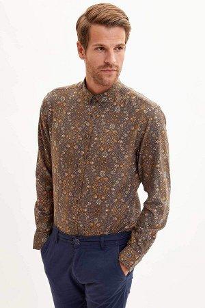 рубашка Размеры модели: рост: 1,88 грудь: 96 талия: 77 бедра: 96 Надет размер: M  Хлопок 100%