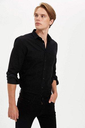 рубашка Размеры модели: рост: 1,89 грудь: 98 талия: 76 бедра: 96 Надет размер: M  Хлопок 100%