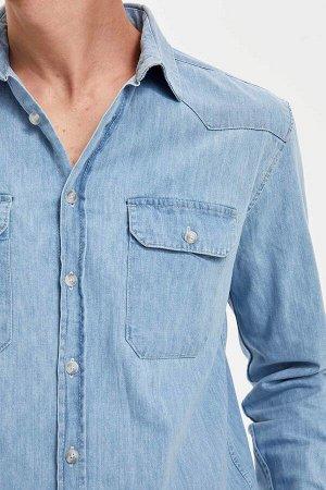 рубашка Размеры модели: рост: 1,86 грудь: 97 талия: 74 бедра: 96 Надет размер: L  Хлопок 100%