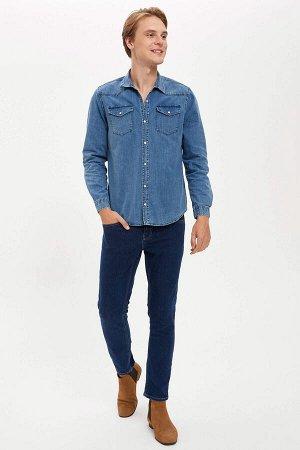 рубашка Размеры модели: рост: 1,89 грудь: 98 талия: 76 бедра: 96 Надет размер: L  Хлопок 100%