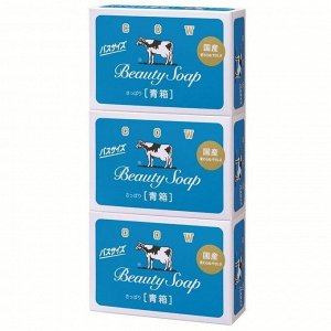 Молочное туалетное мыло с прохладным аром жасмина «Beauty Soap» (кусок 130 гр) × 3 шт
