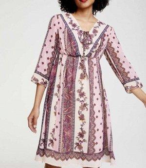 Платье, розово-белое