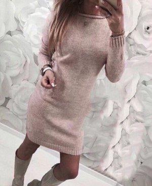 Платье акрил и шерсть
