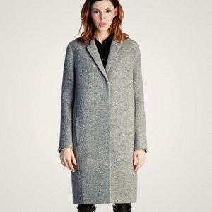 Пальто Старая цена 2495 рублей! Пальто женское демисезонное в стиле бойфренд с  подплечниками Состав : 22,3% шерсть , 66,4 нейлон, 1,3 прочие волокна. Застежка : кнопка.  Цвет: серый