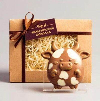 """Предзаказ. Бельгийский шоколад на Новый год! — Шоколадные фигурки """"Новый год"""", 1шт — Шоколад"""