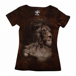 Женская футболка Лев и Львица КР 267