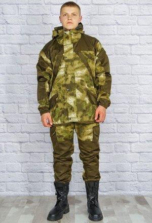 Костюм 702 рост 182-188 Состав: Рип-Стоп, Флис. Описание: Демисезонный костюм состоит из куртки и брюк на подтяжках. Верхний слой изготовлен из ткани Рип-Стоп обладающей отличными ветрозащитными свойс