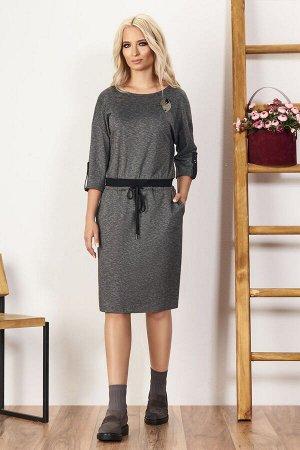 Платье Платье Bazalini 3426  Состав ткани: Вискоза-74%; ПЭ-21%; Эластан-5%;  Рост: 170 см.  - платье свободного кроя с овальным вырезом горловины из трикотажного полотна - отрезное по линии талии с в