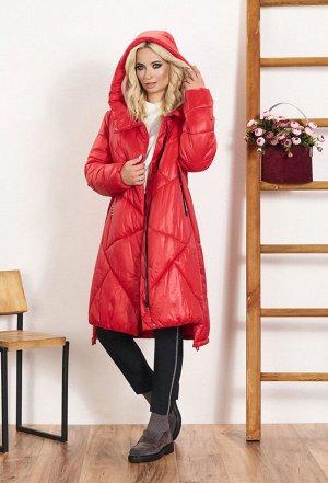Куртка Куртка Bazalini 3443 красная  Состав ткани: ПЭ-100%;  Рост: 170 см.  - стеганая куртка свободного кроя с застежкой на молнию и кнопки, изготовлена из гладкого непромокаемого материала, который