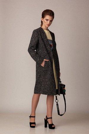 Пальто Пальто Rosheli 737 серый  Состав ткани: ПЭ-100%;  Рост: 164 см.  Пальто из мягкой пальтовой ткани на подкладке. Пальто прямого силуэта с двумя наклонными вытачками и двумя прорезными карманами