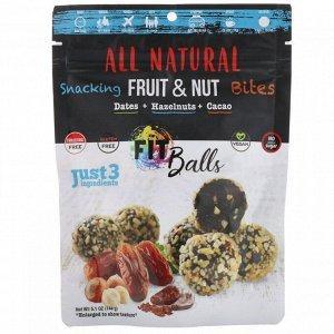 All Natural фит-шарики, финики + лесные орехи + какао