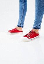 887336/01-05 красный текстиль женские полуботинки