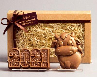 """Предзаказ. Бельгийский шоколад на Новый год! — Шоколадные фигурки """"Новый год"""", набор — Шоколад"""