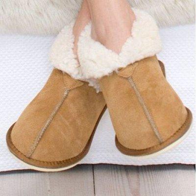 Вязалкин-3. Уютный трикотаж для всей семьи! — Обувь из натуральной овчины и меха — Тапочки