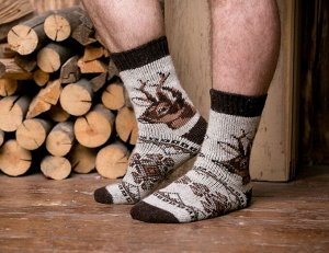 Носки шерстяные N6R152-1.